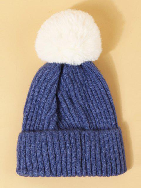 Chapeau WapitideNoël avec Pompon Design - Bleu Dodger  Mobile