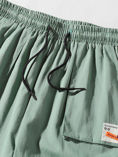 Applikation Lässige Cargo Hose mit Mehreren Taschen - Grün XS Mobile