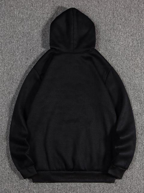 ladies Sunglasses Print Kangaroo Pocket Fleece Hoodie - BLACK 2XL Mobile