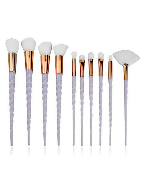 buy 10Pcs Twist Handle Makeup Brush Set - LIGHT GRAY  Mobile