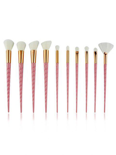 womens 10Pcs Twist Handle Makeup Brush Set - LIGHT PINK  Mobile
