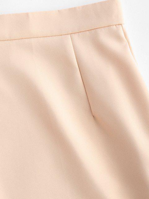 buy Sheath Mini Pelmet Skirt - LIGHT COFFEE S Mobile