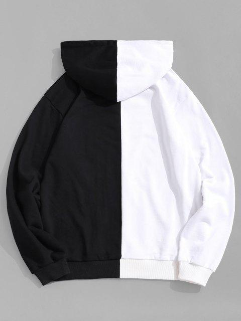 latest Break Rules Two Tone Panel Hoodie - BLACK XL Mobile