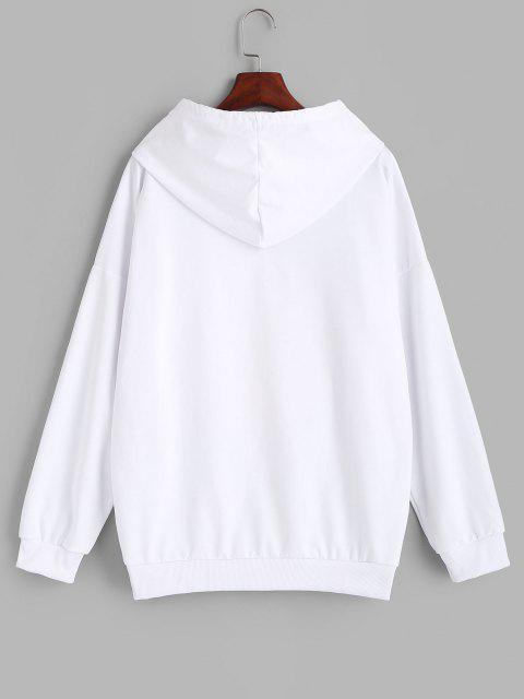 Sudadera con Capucha Estampado Mujer - Blanco XL Mobile
