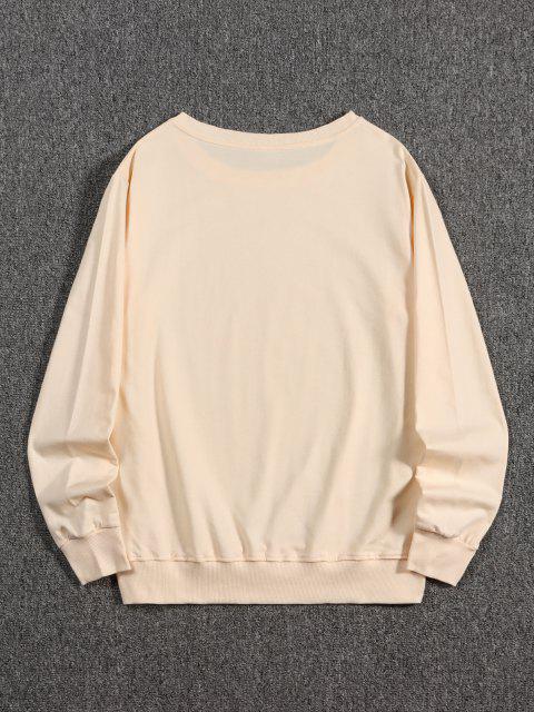 Japanischer Fan Druck Kapuze Sweatshirt - Pfirsch M Mobile
