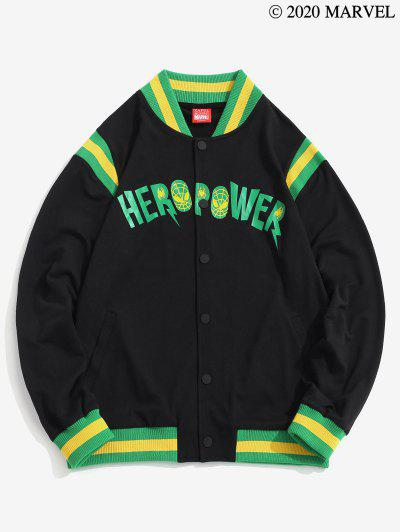 Marvel Spider-Man Hero Power Graphic Knitted Patch Jacket - Black 2xl