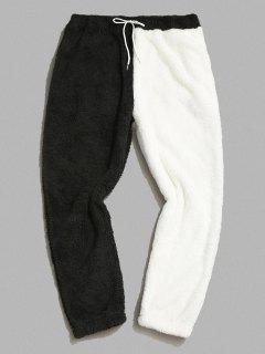 ZAFUL Pantalones Mullidos De Panel De Color Bloque - Negro S