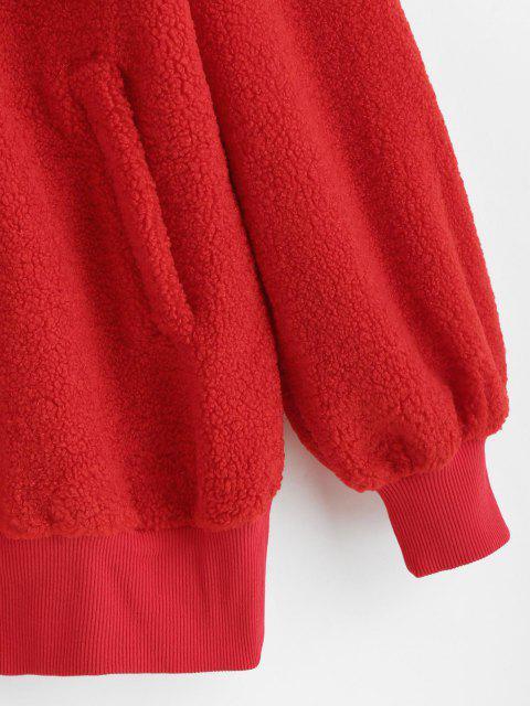 ZAFUL Sudadera de Talla Grande Fluffy - Rojo XL Mobile