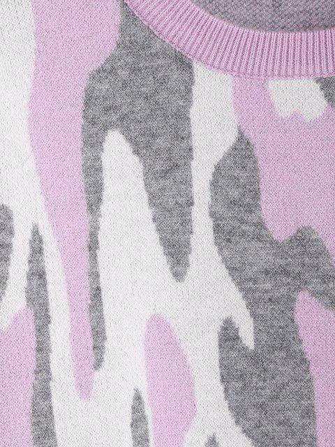 Abstrakt Grafik Rundhals Sweater - Multi Eine Größe Mobile