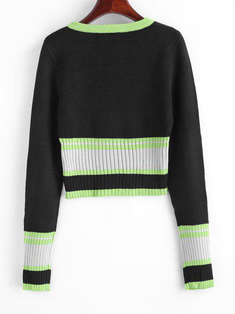 Schlanker Farbblock Pullover - Multi Eine Größe Mobile
