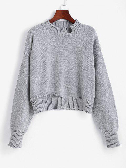 Geschnittener Abgeschnittener Pullover - Graue Wolke Eine Größe Mobile