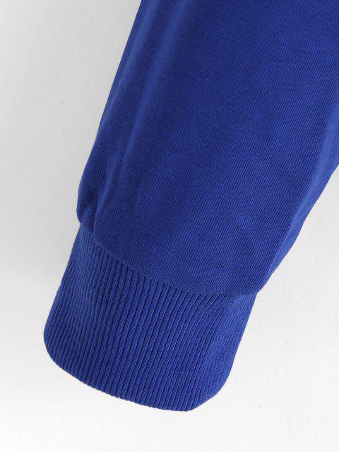 ZAFUL Moletom com Capuz de Ombro Caído - Azul S Mobile