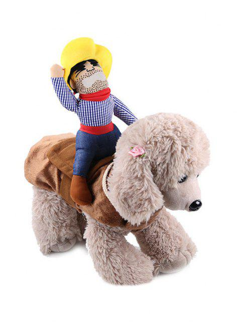 fashion Halloween Pet Supplies Riding Man Embellished Funny Cat Clothes - MULTI-A  Mobile