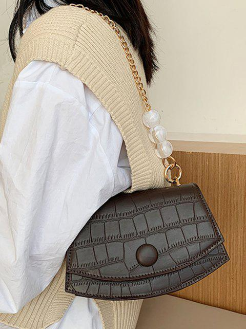 unique Cover Chain Beads Crossbody Bag - COFFEE  Mobile