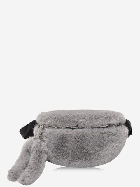 Bolso de Pecho de Piel Sintética de Color Sólido - Gris Oscuro  Mobile