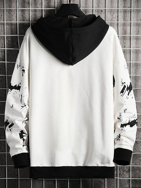 chic Tide All Guild Patch Contrast Rib-knit Trim Hoodie - WHITE S Mobile