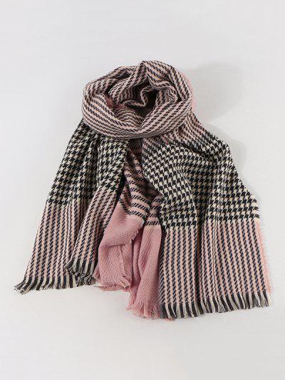 Bufanda Cachemir Pata De Gallo Artificial - Rosa Claro