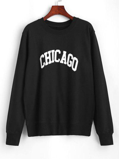 Zaful / Crewneck Chicago Graphic Sweatshirt