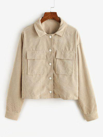 ZAFUL Corduroy Cargo Jacket - Light Khaki M
