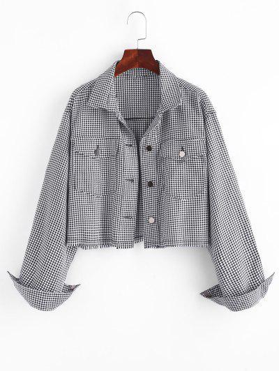 Houndstooth Shirt Jacket