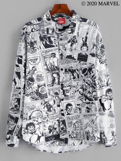 Zaful / Marvel Spider-Man Allover Comics Print Button Up Shirt