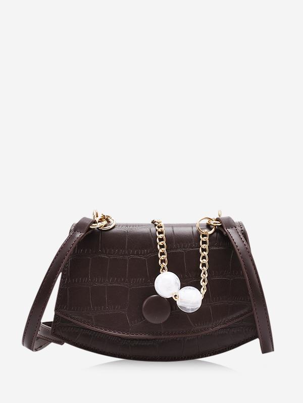 Cover Chain Beads Crossbody Bag