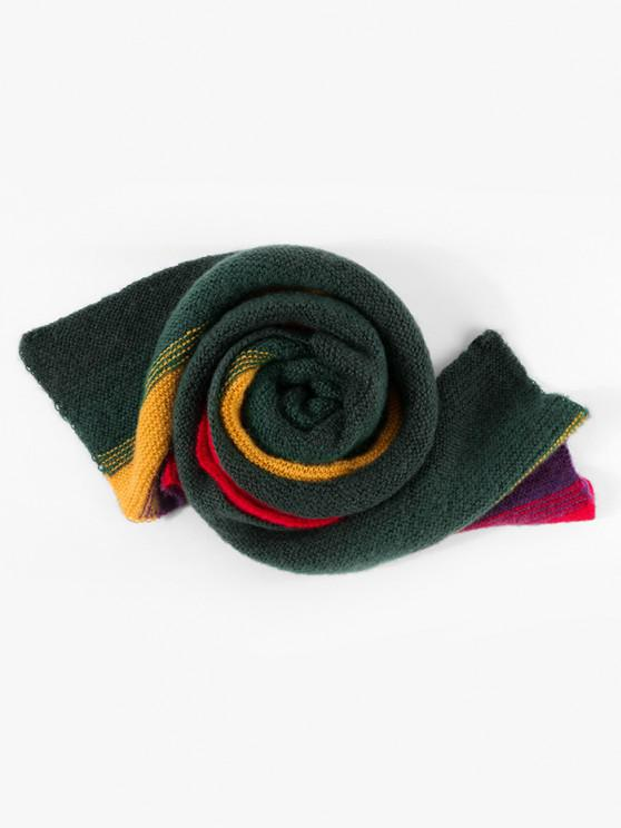 sale Colorblock Striped Knitted Scarf - MULTI-A