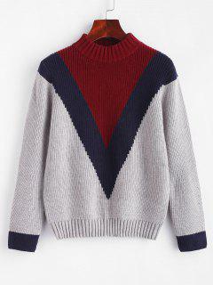 ZAFUL Color Block Sweater - Multi