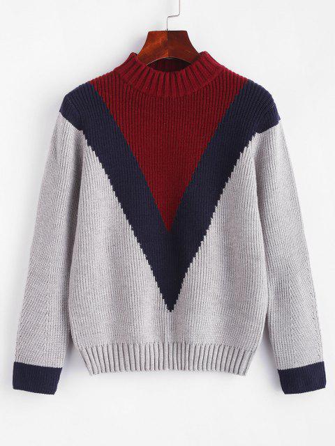 ZAFUL Farbblock Pullover - Multi Eine Größe Mobile