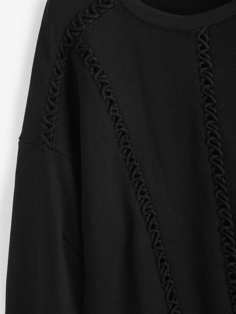 outfit Elongating Sleeve Crisscross Sweatshirt - BLACK L Mobile