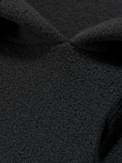 Sweat à Capuche Jointif à Carreaux avec Poche en Avant en Laine - Gris Ardoise Foncé 2XL Mobile