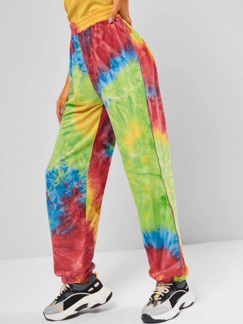 women High Waisted Tie Dye Jogger Sweatpants - MULTI M Mobile