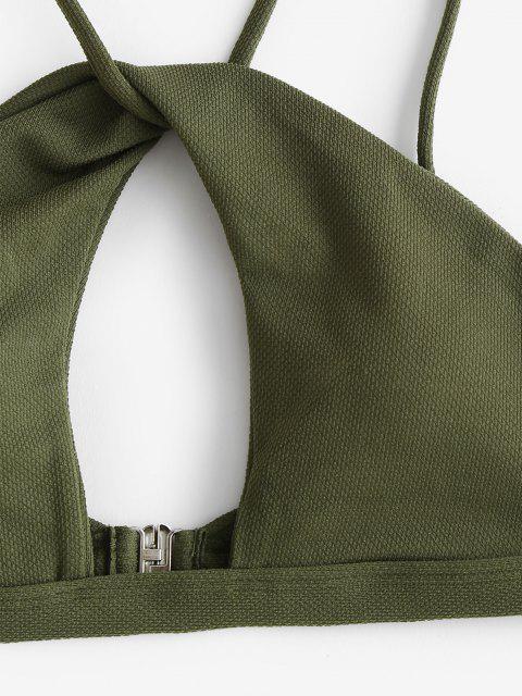 ZAFUL Bikini Recortado con Giro de Textura - Mar Verde Mediana S Mobile