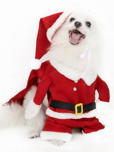 Christmas Santa Pet Hat Clothing Set - Multi