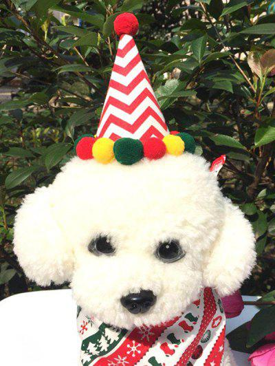 Pet Cosplay Clothes Dog Clothes Christmas Hat And Neck Scarf Set - Multi-a
