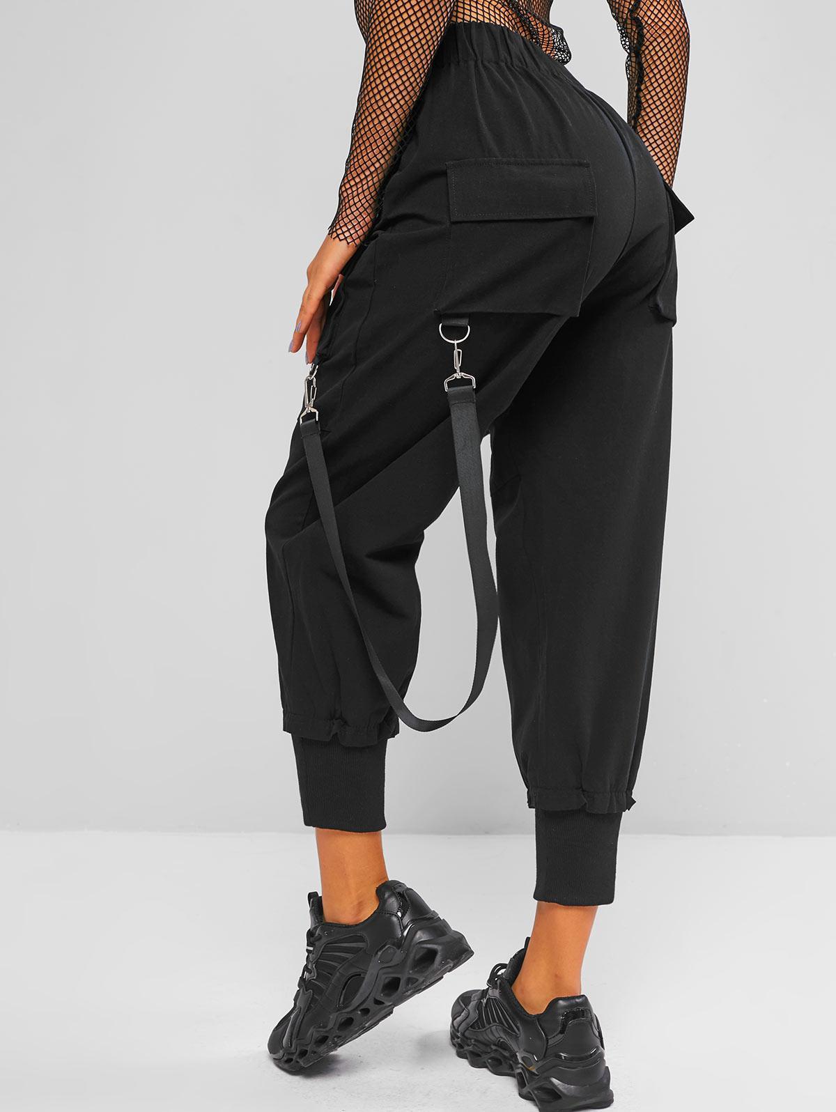 ZAFUL Streetwear Straps Cargo Pants