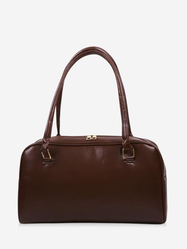 Brief Solid PU Shoulder Bag