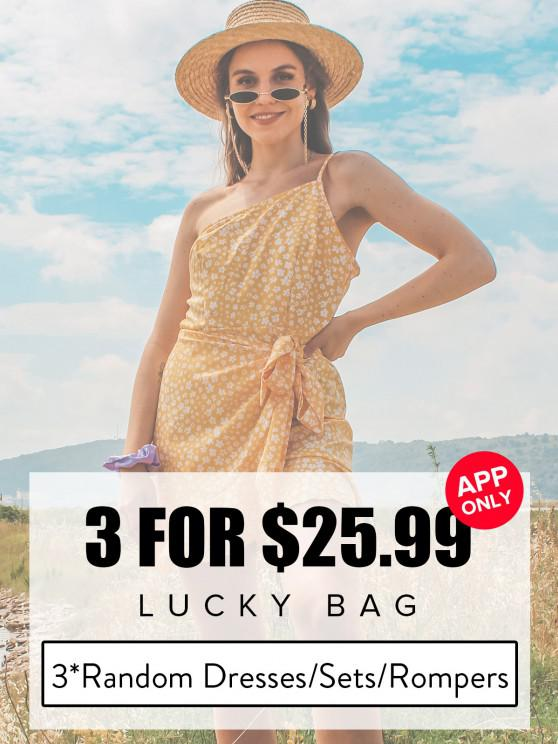 shops ZAFUL Lucky Bag - Womenswear 3*Random Dresses/Sets/Rompers - Limited Quantity - MULTI S