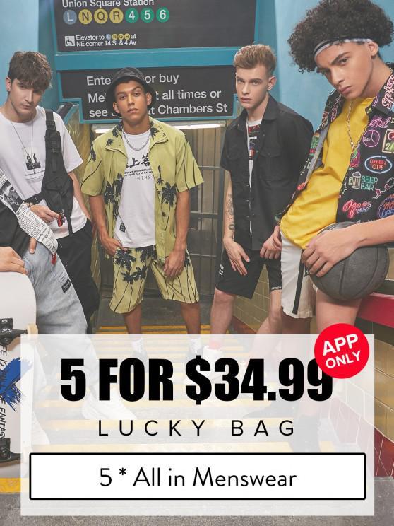 unique ZAFUL Lucky Bag - 5*All In Menswear - Limited Quantity - MULTI 4XL