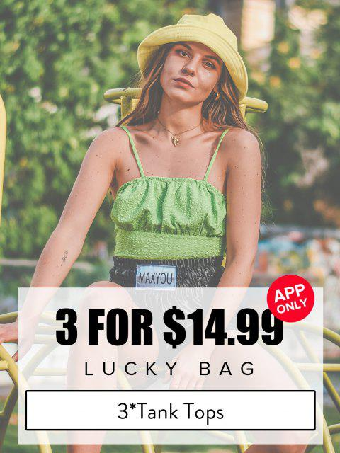 ZAFUL Lucky Bag - Womenswear 3*Tank Tops - Limited Quantity - متعدد S Mobile