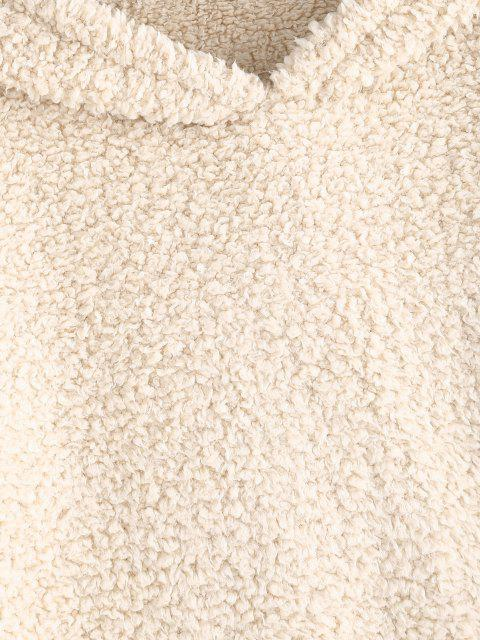 Sudadera con Capucha de Piel de Oveja Leopardo - Caqui XL Mobile