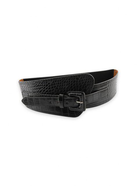 sale Retro Elastic Asymmetrical Dress Belt - BLACK  Mobile