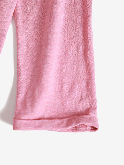Fallschulter Gebundene Taschen Lounge PJ Set - Hell-Pink XXL Mobile
