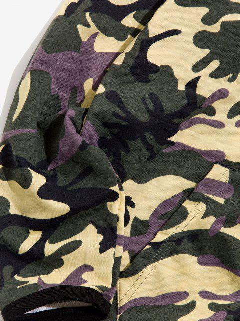 Ensemble de Veste Camouflage Imprimé et de Pantalon Deux Pièces - Vert Armée  L Mobile