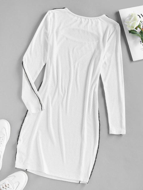 ZAFUL Vestido Ajustado con Corte Alto - Blanco XL Mobile