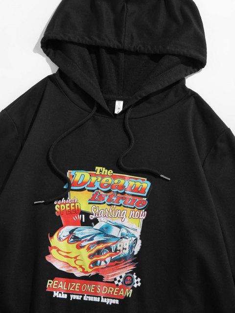 women's ZAFUL Car Graphic Print Hoodie - BLACK S Mobile