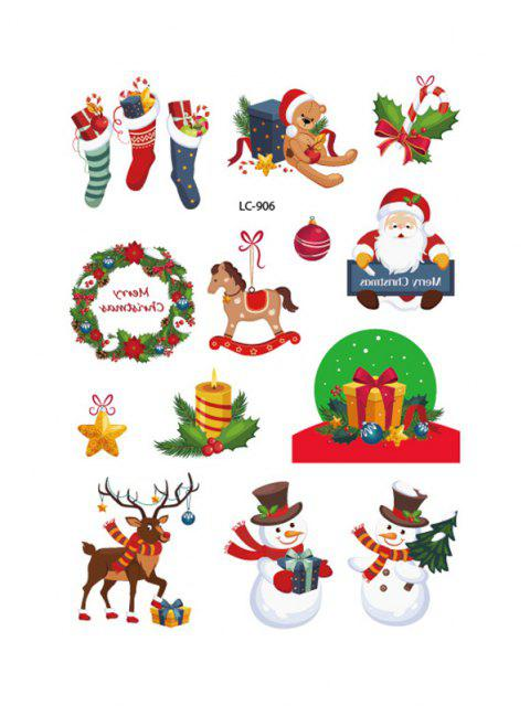new Christmas Snowman Pattern Tattoo Stickers - MULTI  Mobile