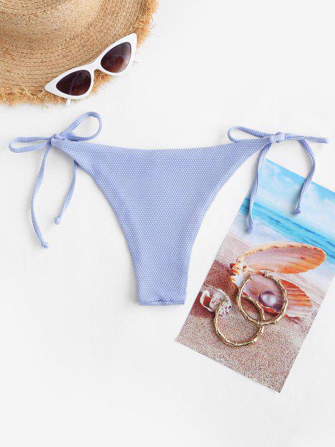 ZAFUL Strukturierte Krawatte Seite Tanga Bikini Unterteile - Hellblau L Mobile