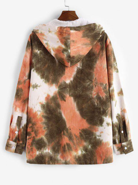 Veste à Capuche en Velours Côtelé Teintée en Laine - orange clair XL Mobile