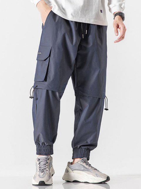 Daisy Blumen Buchstabenmuster Beam Füße Reflektierende Hose - Schiefer Blau XS Mobile